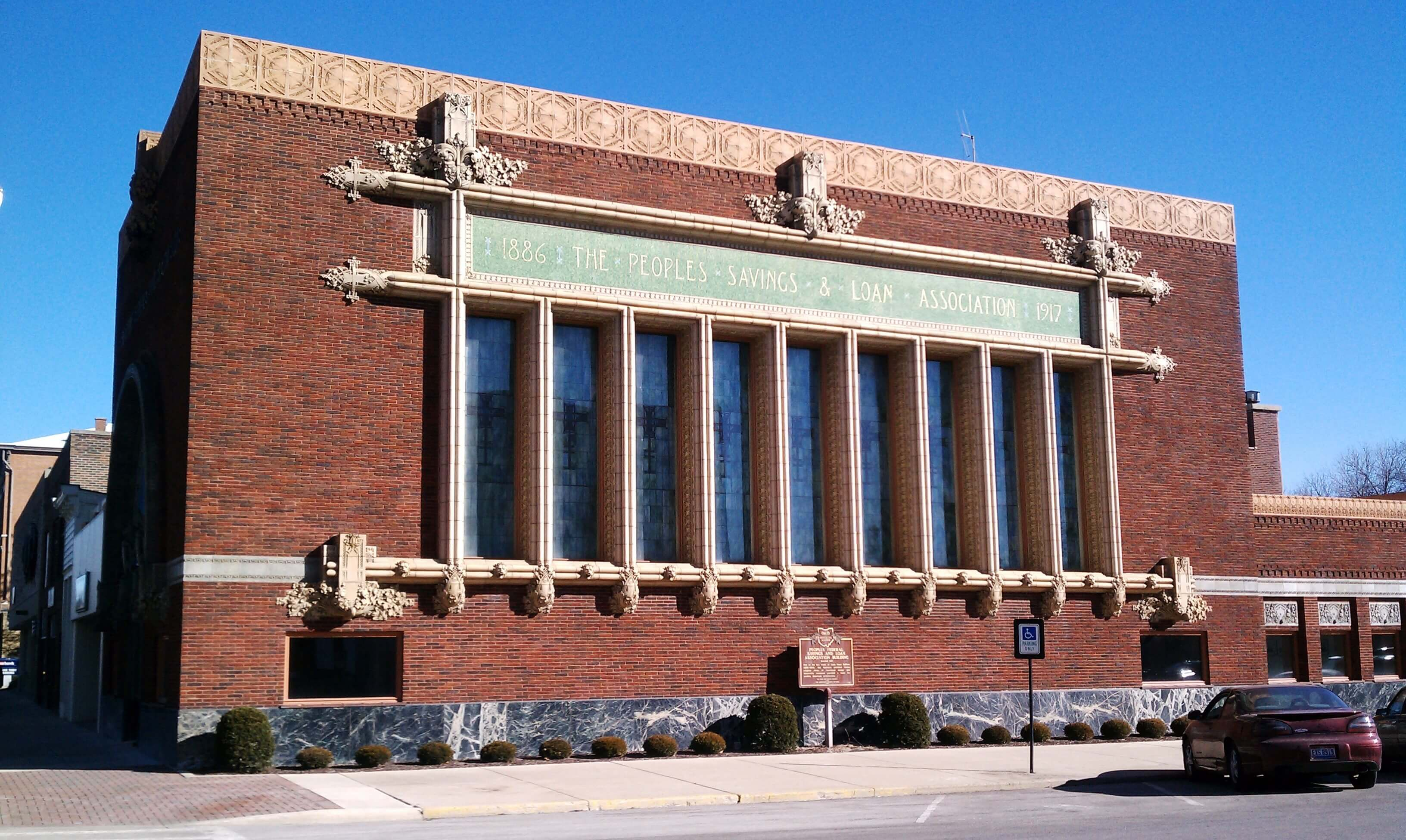 Peoples Federal Savings & Loan Association, Sidney Ohio (Louis Sullivan)